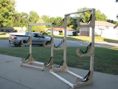 two kayak racks