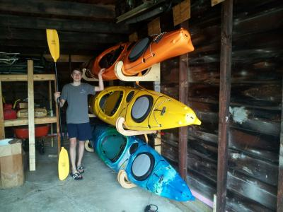 D. Ohmer kayak racks