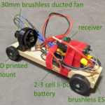 Electric Ducted Fan Pinewood Derby Car